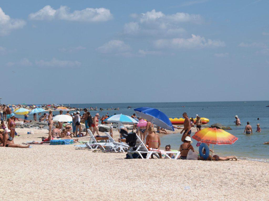 Пляж на Федотовой косе в средней части косы