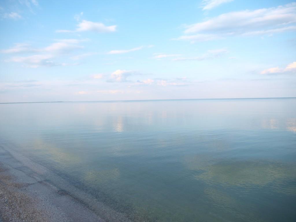 Азовское море вечером на Пересыпи