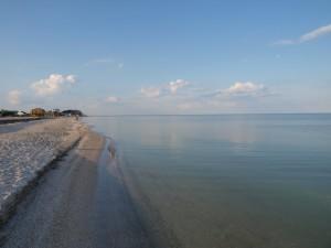 Пляж на Пересыпи вечером