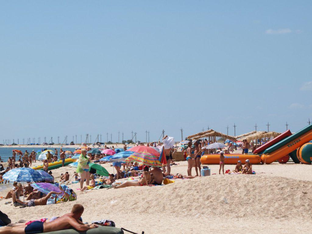 Пляж на Федотовой косе в районе Степка