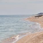 Пляж в заповедной зоне о. Бирючий