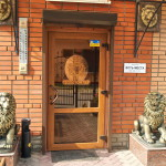 Отель Золотой Лев - вход на ресепшн