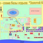 Схема базы отдыха Золотой берег