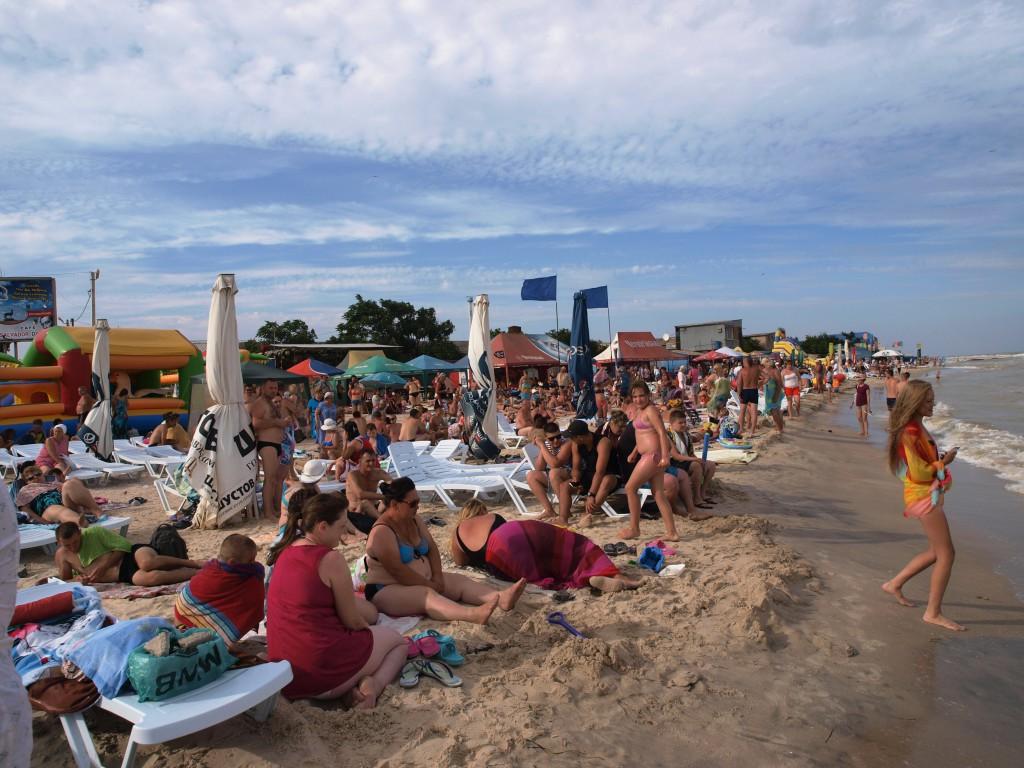 Центральный пляж Кирилловки