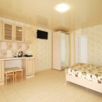 Номер «Люкс» 2-4-х местный семейный с кухней (двуспальная кровать и диван)