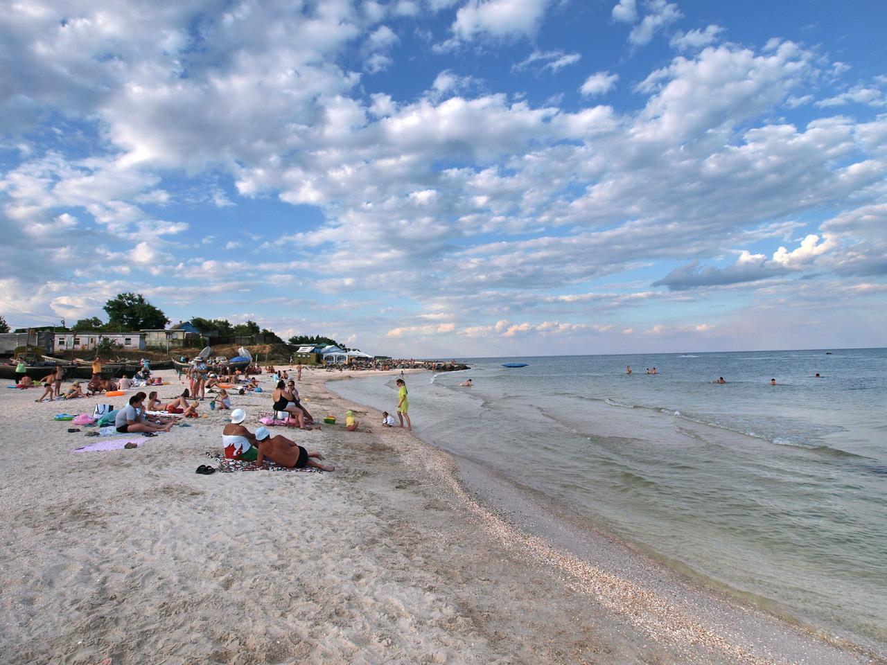 Кирилловка пляж море фото