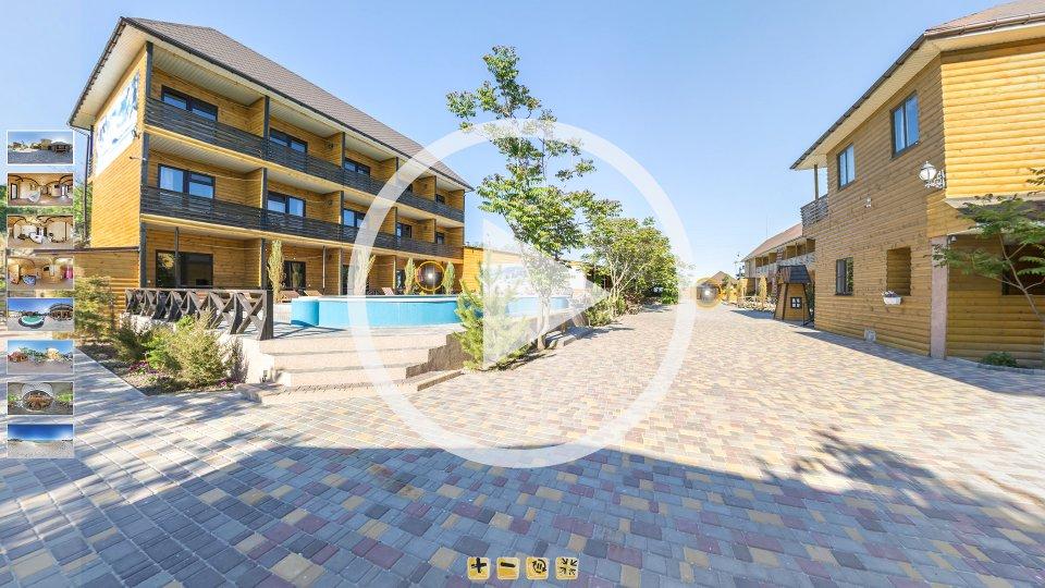 3D-тур базы отдыха Коралловый Остров Кирилловке