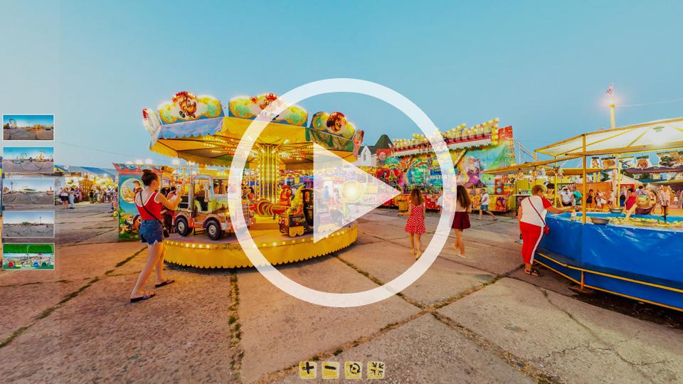 3D-тур луна-парка Адреналин-Шоу в Кирилловке на косе Пересыпь