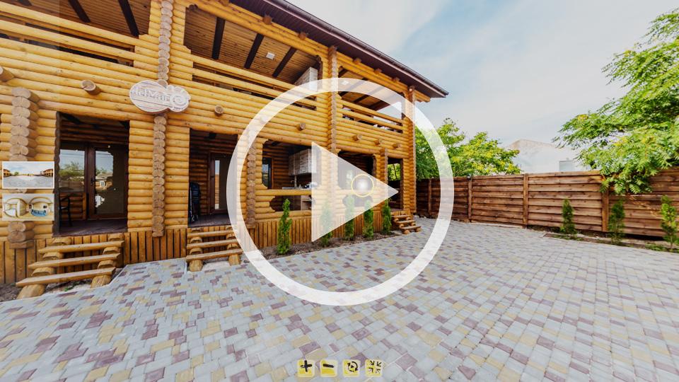 3D-тур коттеджа ДельМар на острове Бирючий