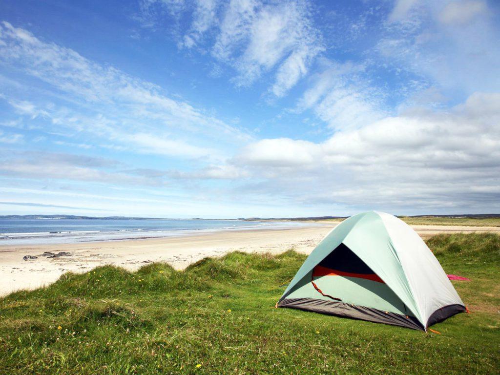 Места для палаток на море