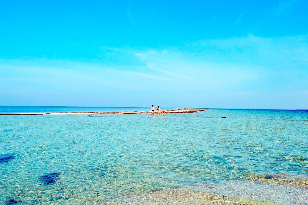 Каролино-Бугаз, пляж