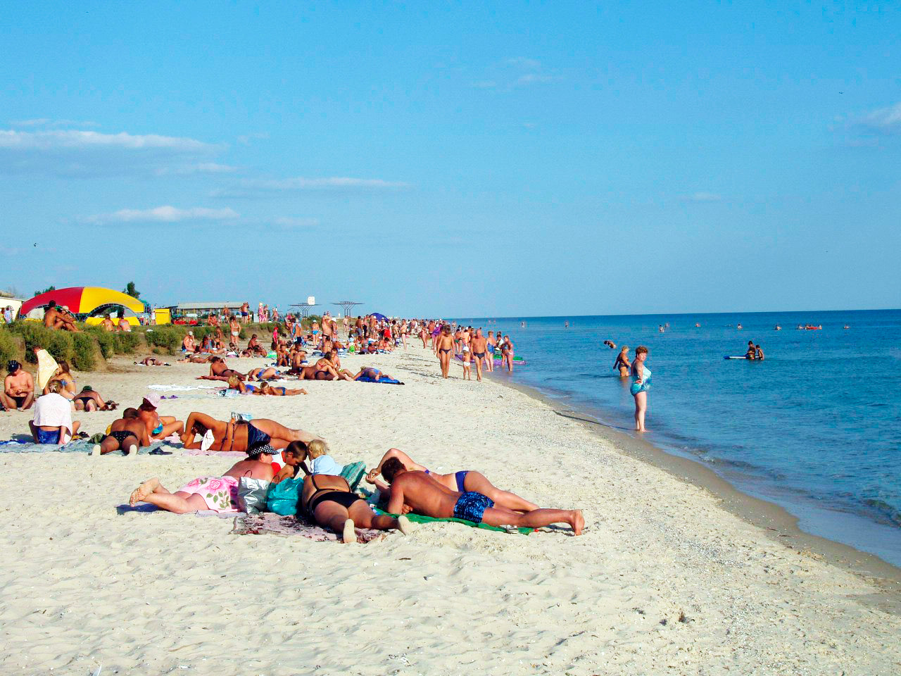Пляж в Приморском