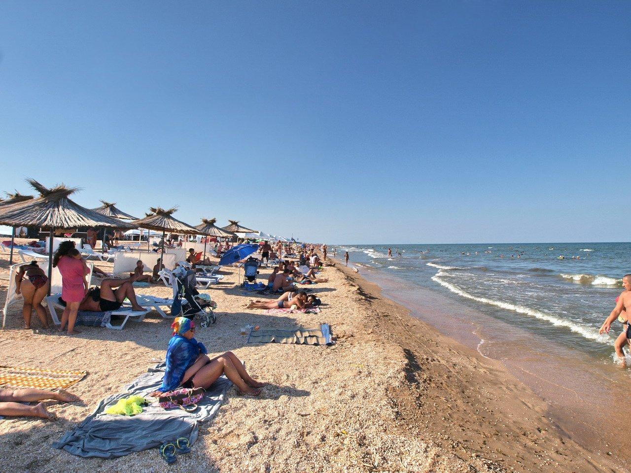 Счастливцево, пляж