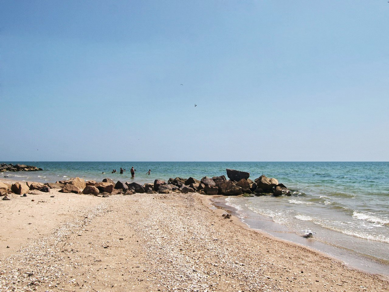 Степановка-1, пляж