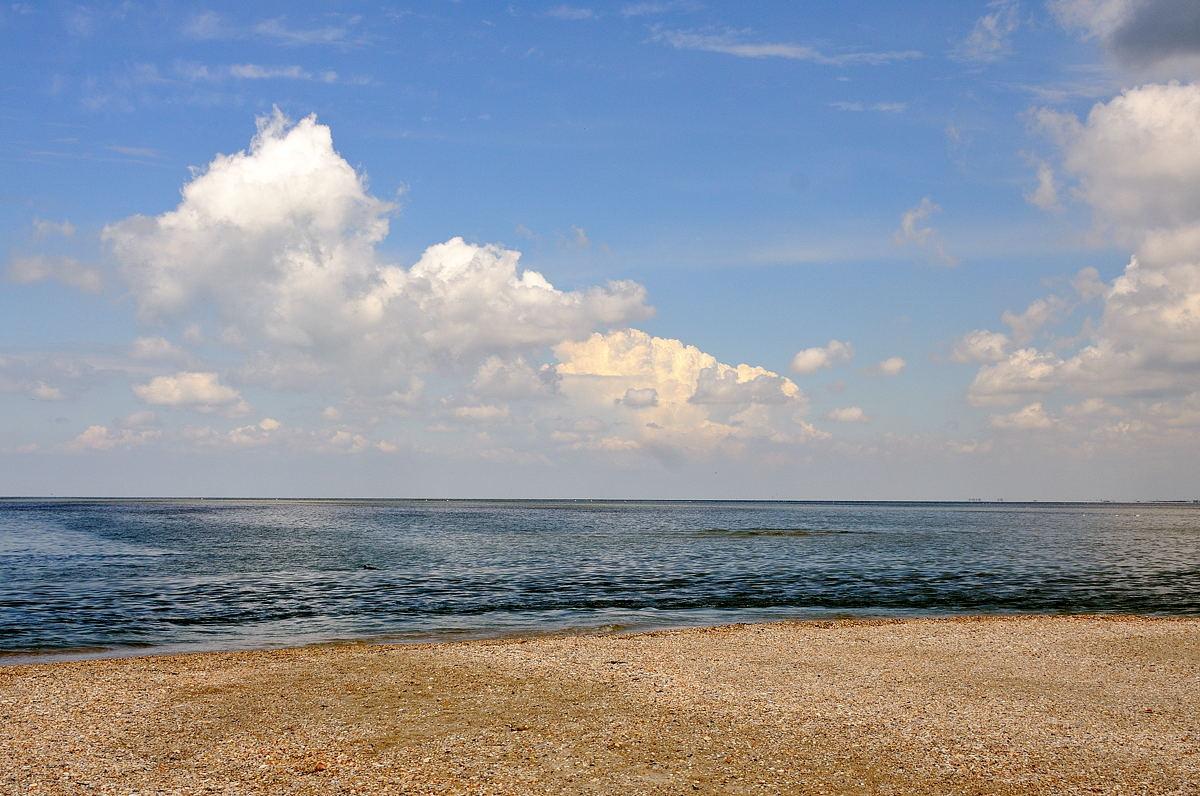 Пляж на Тендровской косе