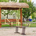 Детская площадка на территории базы