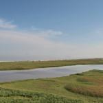 Вид на Бирючий, море и лиман