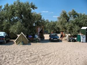 Палаточный городок на Федотовой косе в Кирилловке