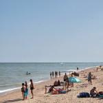 Пляж на косе Пересыпь