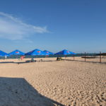 Пляж базы отдыха Мир