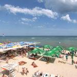 Вид на пляж и Азовское море