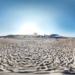 Панорамный вид пляжа